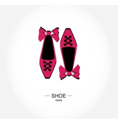 Logo shoe store shop boutique label vector image