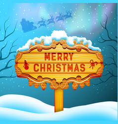 merry christmas background concept vector image