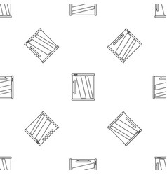 Mini refrigerator pattern seamless vector