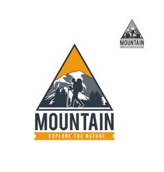 mountain adventure expedition logo vector image