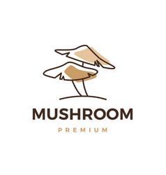 mushroom logo icon vector image