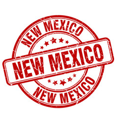 New mexico red grunge round vintage rubber stamp vector
