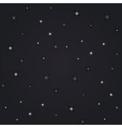 Night view stars vector