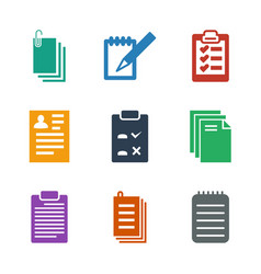 notepad icons vector image