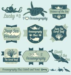 Oceanography Class Labels vector