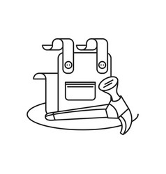 Overall uniform with hammer tool isolated icon vector