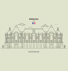 Palais des beaux-arts in lille vector