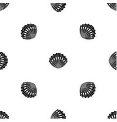 pearl shell pattern seamless black vector image