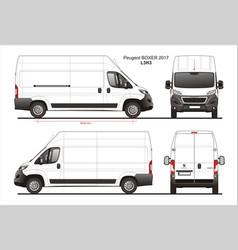 Peugeot boxer cargo delivery van 2017 l3h3 vector