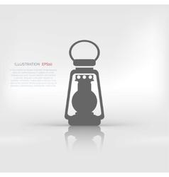 Retro oil lamp icon vector