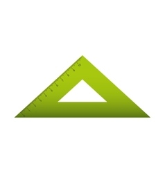 rule triangle isolated icon vector image