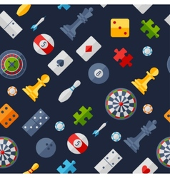 Seamless pattern with game icons in flat design vector