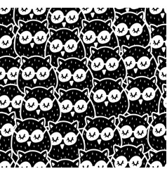 seamless patterns with many birds in the forest vector image