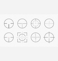 set aim scopes vector image