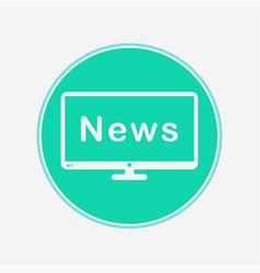 television icon sign symbol vector image