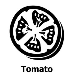 tomato icon simple black style vector image
