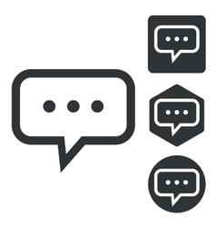 Typing message icon set monochrome vector image