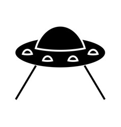 ufo taking cow icon black vector image