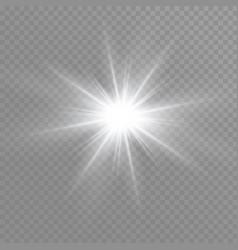 White sparks glitter special light effect vector