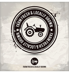 alternative farm fresh locally grown stamp vector image