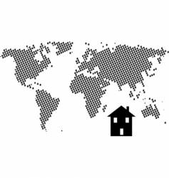 house world vector image