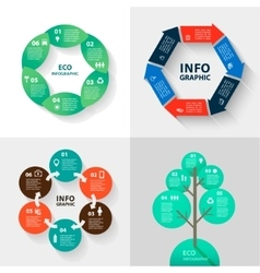 infographics set - eco and business vector image vector image