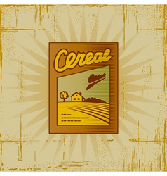 Retro cereal box vector