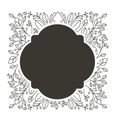silhouette rounded border heraldic with decorative vector image