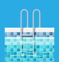 swimming pool and ladder vector image