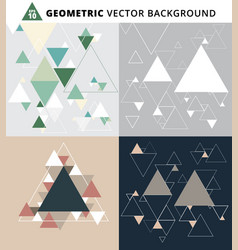 abstract geometric triangle set background for vector image vector image