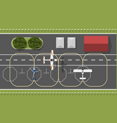 aerodrome of flying academy top of aircraft vector image