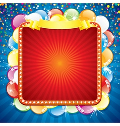 colorful festive billboard vector image