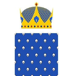 Crown for King and Royal pattern set for Kingdom vector image vector image