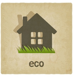 eco house old background vector image vector image