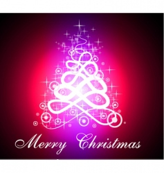 fluorescent Christmas tree vector image