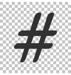 Hashtag sign Dark gray icon on vector image vector image
