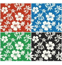 hibiscus flower seamless fabric textile vector image