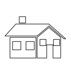 house home real estate chimney window vector image vector image