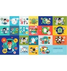 Online education icons webinar school vector