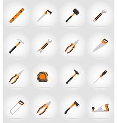 repair tools flat icons 17 vector image vector image