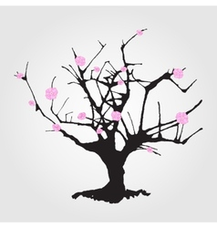 Tree in Chinese style vector image vector image