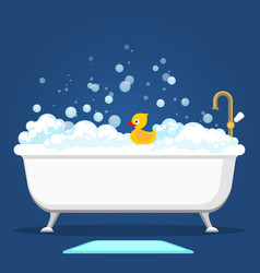 vntage bath and soap foam bubbles vector image vector image