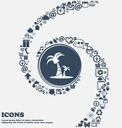 paml icon in the center Around the many beautiful vector image