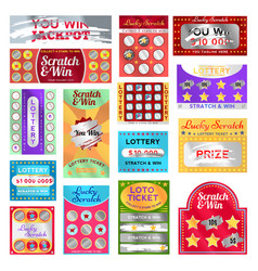 scratch card set vector image vector image