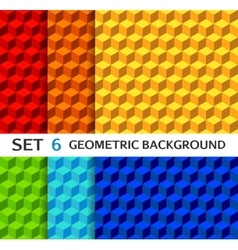 Set of geometric seamless backgrounds vector image