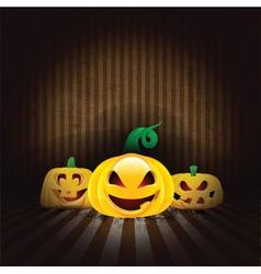 Spooky Halloween pumpkins vector image vector image