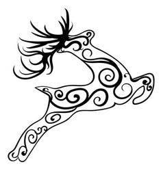 zentangle stylized deer ethnic patterned vector image vector image