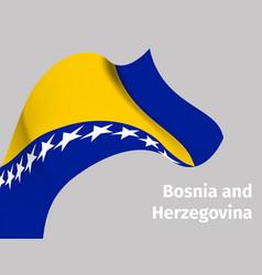 background with bosnia and herzegovina flag vector image
