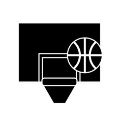 basketball board icon vector image