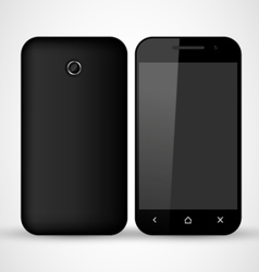 Common Black SmartPhone vector image vector image